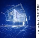 technical 3d wireframe... | Shutterstock . vector #281772185