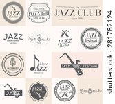 Jazz Music Stamps And Labels....