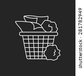 garbage can line icon | Shutterstock .eps vector #281782949