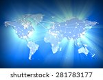 image of a world map with a...   Shutterstock . vector #281783177