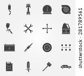 car service icon black set  ...   Shutterstock .eps vector #281789561