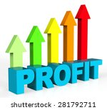 increase profit indicating... | Shutterstock . vector #281792711