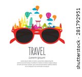 travel and tourism concept... | Shutterstock .eps vector #281792951