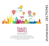 travel and tourism concept... | Shutterstock .eps vector #281792981