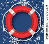 vector banner with lifebuoy and ...   Shutterstock .eps vector #281793875