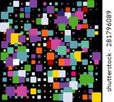 abstract colorful mosaic pattern | Shutterstock .eps vector #281796089