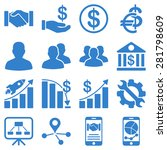business charts and bank icons. ... | Shutterstock .eps vector #281798609