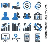 business charts and bank icons. ... | Shutterstock . vector #281799995