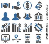 business charts and bank icons. ... | Shutterstock . vector #281800019