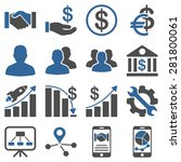 business charts and bank icons. ... | Shutterstock .eps vector #281800061