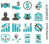 business charts and bank icons. ... | Shutterstock . vector #281800079