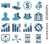 business charts and bank icons. ... | Shutterstock . vector #281800091