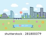 flat design modern vector... | Shutterstock .eps vector #281800379