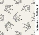 crown doodle seamless pattern... | Shutterstock .eps vector #281804141