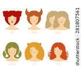 zodiac astrological signs... | Shutterstock .eps vector #281807561
