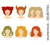 zodiac astrological signs... | Shutterstock .eps vector #281807561