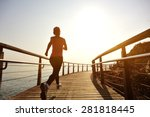 healthy lifestyle sports woman... | Shutterstock . vector #281818445