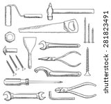 tools set | Shutterstock . vector #281823491