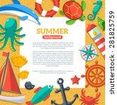 summer concept flyer template...   Shutterstock .eps vector #281825759
