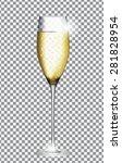 glass of champagne vector... | Shutterstock .eps vector #281828954