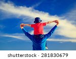 happy father and little son on... | Shutterstock . vector #281830679