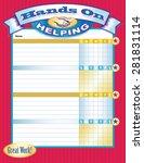 hands on helping job chart red   Shutterstock .eps vector #281831114