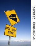Steep Grade Truck Road Sign In...