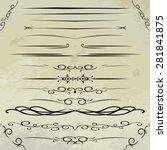 ornamental rule lines in... | Shutterstock .eps vector #281841875