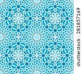 oriental seamless mosaic pattern   Shutterstock .eps vector #281857169