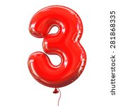 number three   3 balloon font | Shutterstock . vector #281868335
