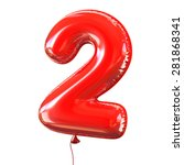 Number Two   2 Balloon Font