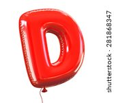 Letter D Balloon Font