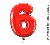 number six   6 balloon font | Shutterstock . vector #281868371
