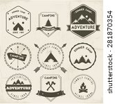 camping labels vector set | Shutterstock .eps vector #281870354