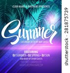 hello summer beach party flyer. ... | Shutterstock .eps vector #281875739
