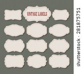 vector set vintage labels and... | Shutterstock .eps vector #281875751