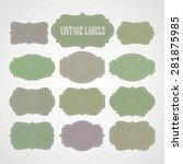 vector set vintage labels and... | Shutterstock .eps vector #281875985
