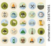 summer camping icons set | Shutterstock .eps vector #281876081