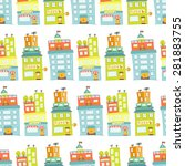 vector seamless pattern with... | Shutterstock .eps vector #281883755