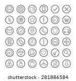 e commerce. online shop linear...   Shutterstock .eps vector #281886584