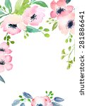 card template with watercolor... | Shutterstock . vector #281886641