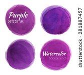 Bright Purple Watercolor...