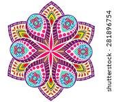 abstract ethnic ornate...   Shutterstock .eps vector #281896754