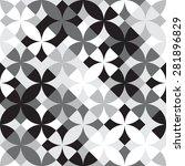 seamless geometric flower...   Shutterstock .eps vector #281896829