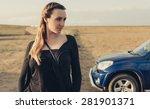 portrait of beautiful young... | Shutterstock . vector #281901371