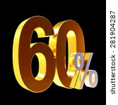 discount concept. golden 60... | Shutterstock . vector #281904287