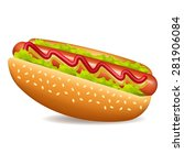 hot dog | Shutterstock .eps vector #281906084