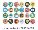 flat security vector icons 1 | Shutterstock .eps vector #281906354