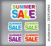 summer sale | Shutterstock .eps vector #281914964