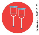 crutch or crutches icon with... | Shutterstock .eps vector #281918135